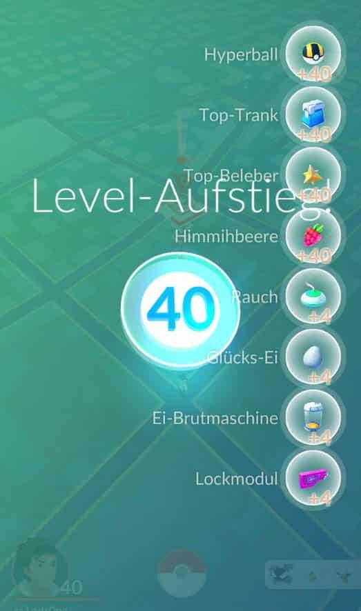 Pokemon GO Level Belohnungen