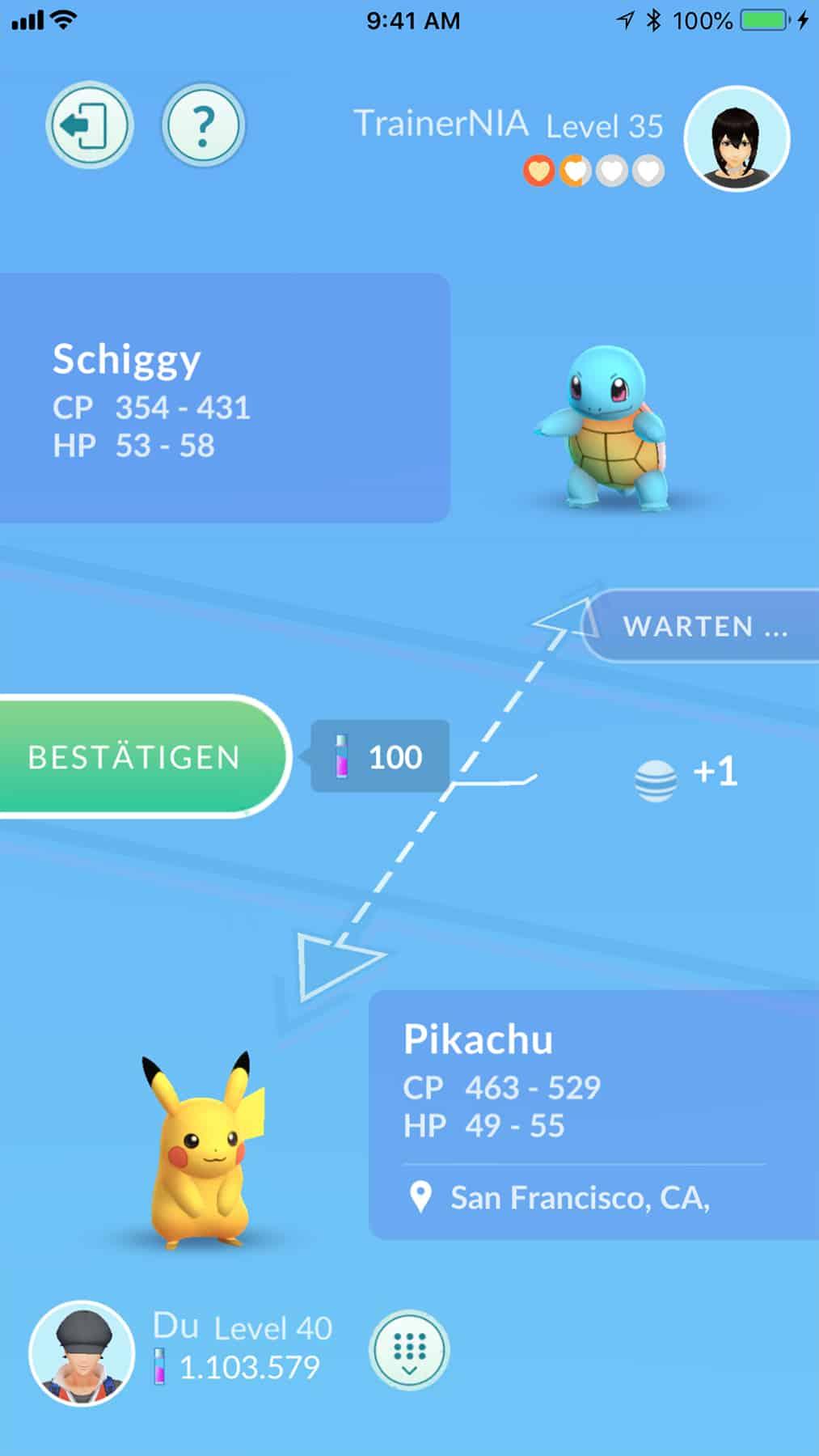 Pokemon GO Tausch